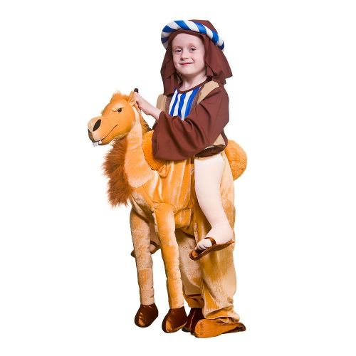 Childrens Deluxe Ride On Camel Costume Unisex Fancy Dress